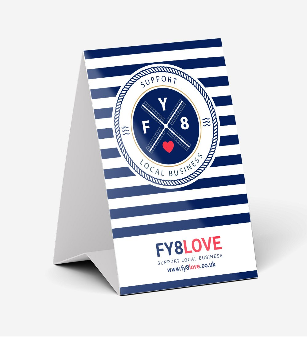 FY8Love Point of Sale - Tent Card
